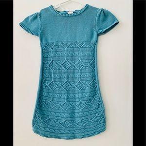 🔥3/$15 Gymboree Girls Knit Blue Dress Size 7
